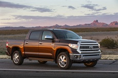 <p>Toyota Motor Sales U.S.A. Inc. unveiled the redesigned 2014 Tundra full-size pickup truck at a press conference at the 2013 Chicago Auto Show.</p>
