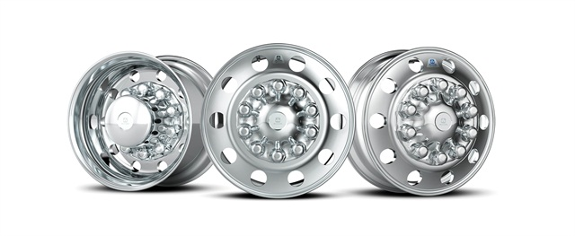 A sampling of some of Alcoa's current truck wheel offerings.