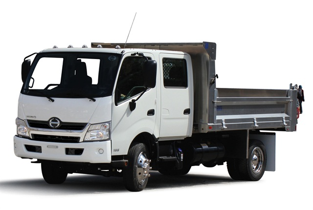<p>Designed on a 19,500-pound GVW chassis to provide payload capability, the four-door, six person double cab has an optional magnetic suspension seat in a cab designed to accommodate drivers up to 6-feet 6-inches tall.</p>