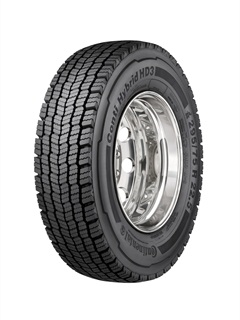 <p>Conti Hybrid HD3, is verified by the U.S. EPA's SmartWay Transport Partnership as a low rolling resistance drive tire for class 8, line-haul tractor trailers.</p>