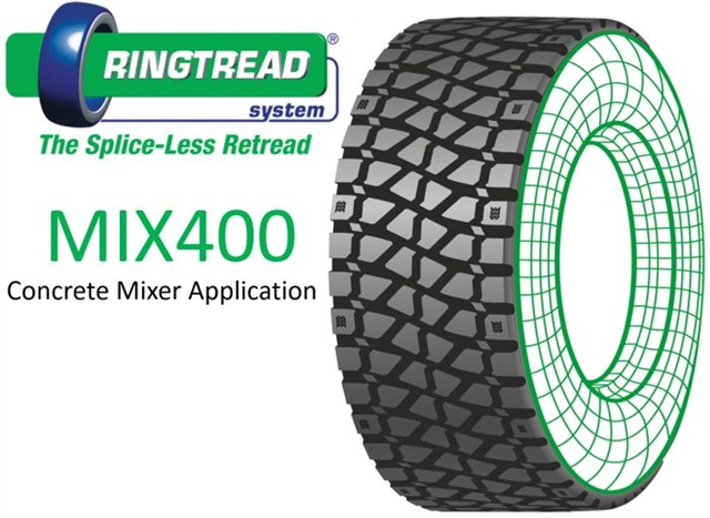 Splice-less Retread Designed for Concrete Mixers