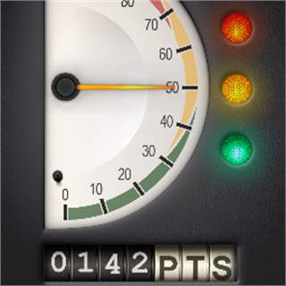 <p>PedalCoach uses a simple graphic interface to provide real-time feedback.</p>