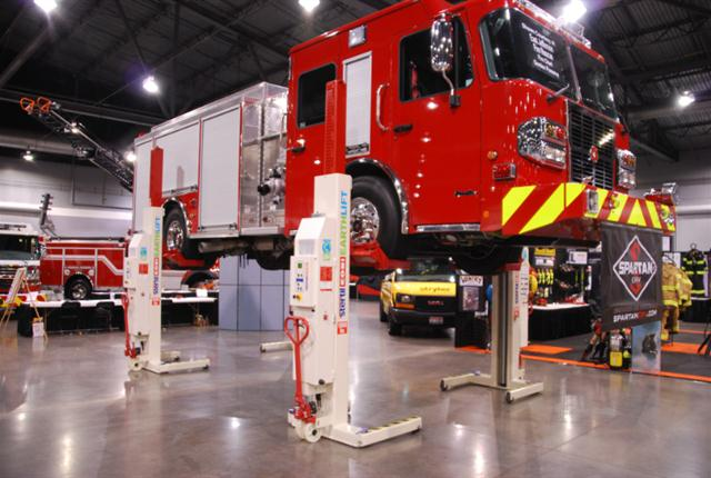 Stertil-Koni EARTHLIFT, now with lifting capacity of 18,500 pounds per column.