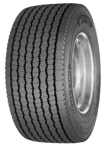 <p>The Michelin X One Line Energy D tire is directional and uses matrix siping for optimized traction and even wear.  </p>
