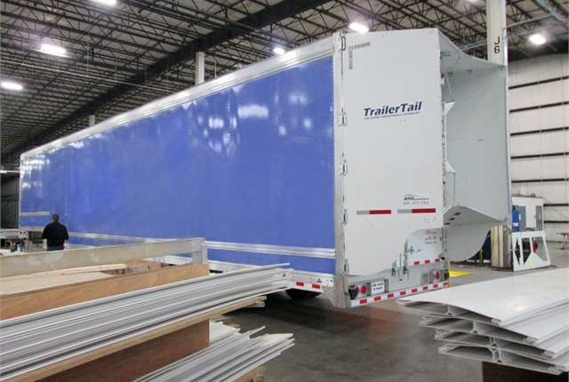 <p>Kentucky Trailer is installing tall versions of the Trailer Tail at its plant in Louisville.</p>