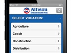 New Allison Tranmission app for iPhones and iPads.