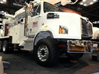 Western Star 4700SB 6x6 is displayed at the Work Truck Show in Indianapolis. It's also available as a 4x4.