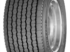 The Michelin X One Line Energy D tire is directional and uses matrix siping for optimized traction and even wear.