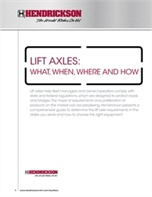 Lift Axles: What, When, Where and How