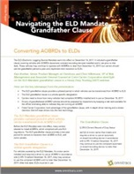 The ELD Mandate Grandfather Clause: Converting AOBRDs to ELDs